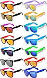 Wholesale Colored Mirrored and Smoke Lens Sunglasses 14 pairs OWL