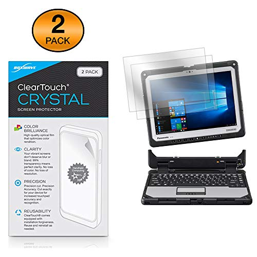 Boxwave Cleartouch Screen Protector - Panasonic Toughbook 33 (CF-33) Screen Protector, BoxWave [ClearTouch Crystal (2-Pack)] HD Film Skin - Shields from Scratches for Panasonic Toughbook 33 (CF-33)