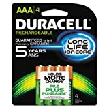 Duracell Rechargeable AAA Batteries - 4 ct