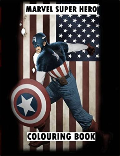 Marvel Super Hero Colouring Book Wolverine Avengers Guardians Of The Galaxy X Men Defenders Illuminati Fantastic Four Comic