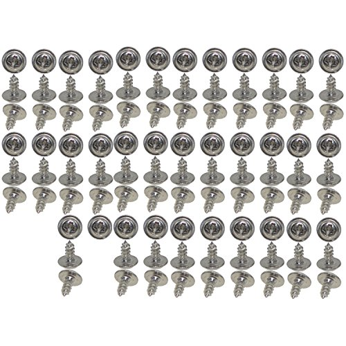 XunLiu 100pcs Modified Sheet Metal Screws Full Thread Phillips Drive Stainless Steel Self-Drilling Screws M1.7 4mm