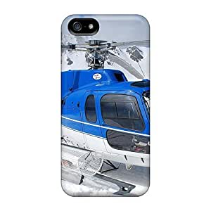 For TianMao Iphone Protective Case, High Quality For Iphone 5/5s Helicopter In The Mountains Skin Case Cover