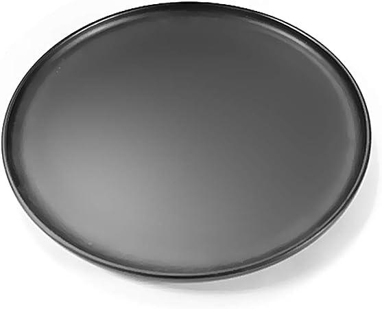 LINANA Kitchenware - Bandeja Redonda para Cubiertos (cerámica), Color Negro, Porcelana, Negro, 20.5CM*1.5CM: Amazon.es: Hogar