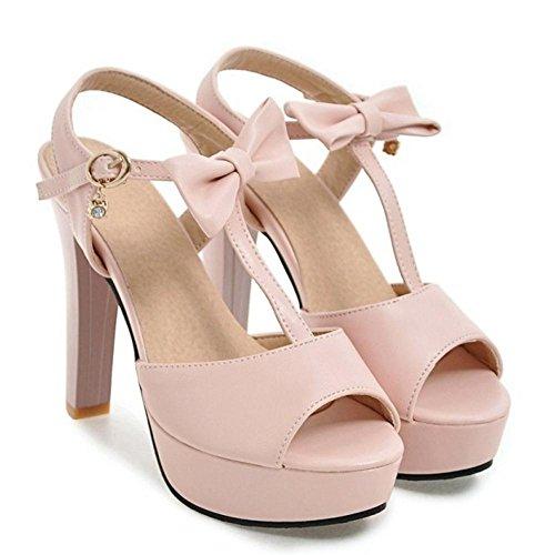 Sandali Peep Pink Piattaforma Toe Donna 2 RAZAMAZA q1wOAIf7