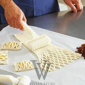Quality Plastic Baking Tool Cookie Pie Pizza Cutter Pastry Lattice Roller for Making Strange Shape Craft mini pastry baking tool
