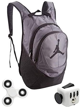 Nike Air Jordan Jumpman 23 Book Bag Backpack Gray Elephant Print with FREE  FIDGET CUBE AND bc11430aa53eb
