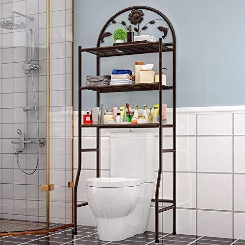 FJY WC Porta - Estantería de Hierro para 3 Niveles (62 x 32 x ...
