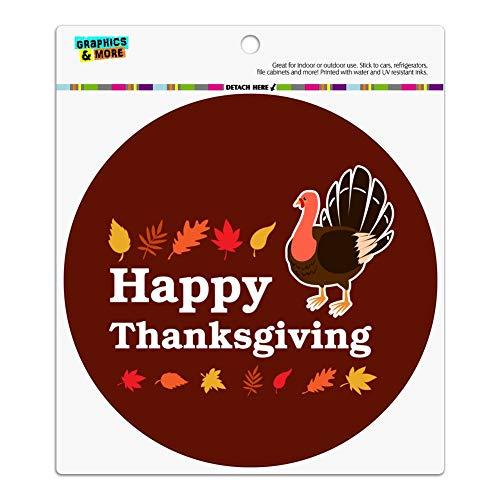 - GRAPHICS & MORE Happy Thanksgiving Turkey Automotive Car Refrigerator Locker Vinyl Circle Magnet