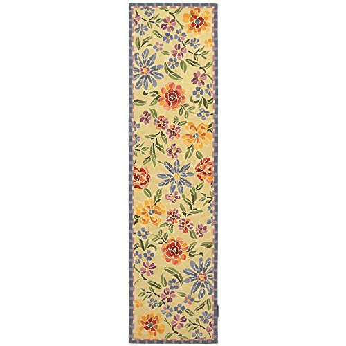 Safavieh Chelsea Collection HK214A Hand-Hooked Ivory Premium Wool Runner (2'6