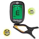 Zuanjia Guitar Tuner Clip On Chromatic The Original - Large Full Color Display Electronic Digital Tuners for Acoustic and Electric Guitars, Banjo, Ukulele, Violin, Bass and Wind Instruments
