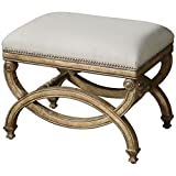 Uttermost 23052 Karline Natural Linen Bench, Small For Sale