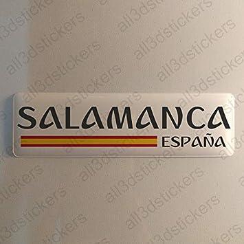 Pegatina Salamanca España Resina, Pegatina Relieve 3D Bandera Salamanca España 120x30mm Adhesivo Vinilo: Amazon.es: Coche y moto