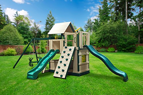 Congo Safari Lookout and Climber Playsystem - Green and Sand Low Maintenance Play Set by CONGO