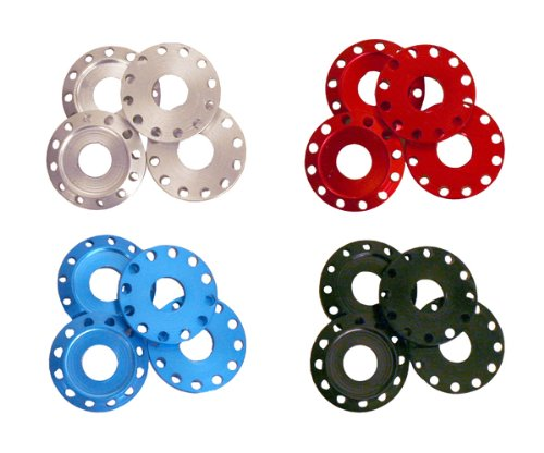 Outlaw Racing OR2443S 4Pcs Billet Anodized Factory Washers Bodywork Countersunk Motorcycle ATV Silver