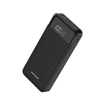 Power Bank USB C 20800mAh Batería Externa 20000 Power Bank con Cargador Externo de Pantalla LED, 2 entradas&3 Salidas 5V 3.0 Batería Cargador portatil ...