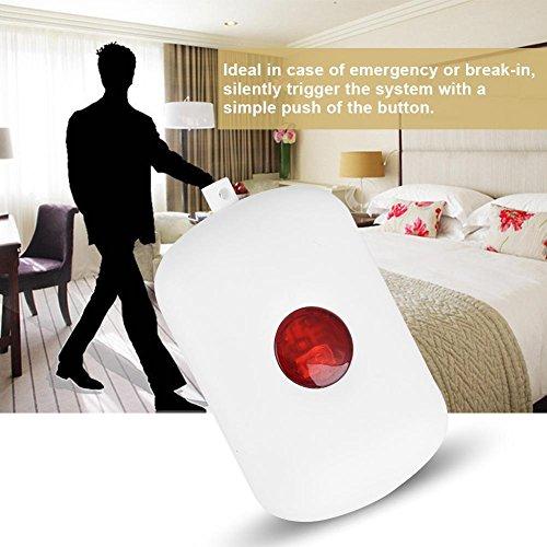 Zerone 433MHz Wireless Home Security Emergency Siren Alarm, SOS Panic Button Alarm for WiFi GSM Home Security Alarm System with Red Chain by Zerone (Image #2)