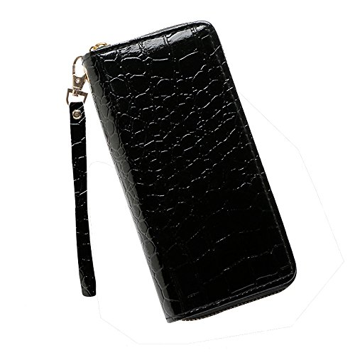 LiLiMeng Fashion Women Stone Road Wallet Coin Bag Purse Phone Bag Black
