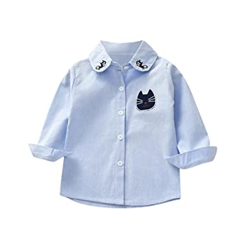 Rayas Blusa, g-real Toddler Bebé Niñas Niños Lovely diseño de gatos diseño de