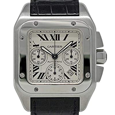 Cartier Santos 100 Swiss-Automatic Male Watch W20090X8 (Certified Pre-Owned) by Cartier