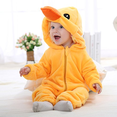 dfd0f1e93 Idgirl Unisex-baby Winter Flannel Romper Duck Onesie Outfits Suit 80CM  Yellow Duck 6-12 Months - Buy Online in Oman. | Apparel Products in Oman -  See Prices ...