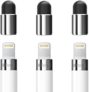 FRTMA [2 in 1] for Apple Pencil Cap Replacement/as Stylus for All Touch Screen Tablets/Cell Phones (Pack of 3)