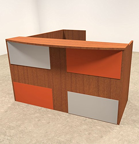 3pc L Shaped Modern Acrylic Panel Office Reception Desk, #OT-SUL-RM45 by UTM