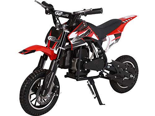 SAY YEAH Mini Dirt Bike 49cc 2-Stroke Cross-Country Pocket Motorcycle Power Sports for Kids Motorcycle Gas Scooter for Girls and Boys (Not for CA) (Dirt Bike For 13 Year Old Boy)