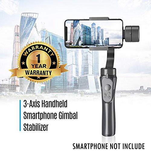 Rotaci/ón de 360 /° Gimbal Stabilizer Disparo Estable DokFin Estabilizador de Card/án de 3 Ejes Control Inteligente Compatible con iPhone y Android Dise/ño Ligero y Port/átil