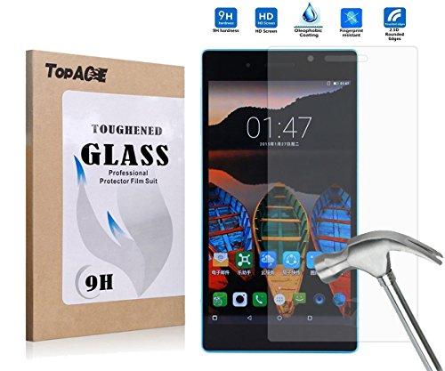 Lenovo Tab3 7 Screen Protector, TopAce Premium Quality Tempered Glass 0.3mm Film for Lenovo Tab3 7 TB3-730M / TB3-730F