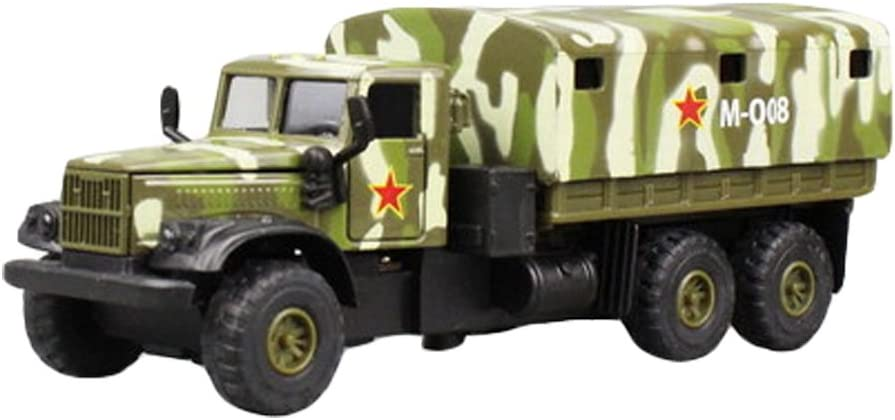F Kids Model Toys Collection Alloy Military Transport Truck Model 1//32