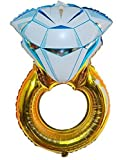 "Premium Mylar ""DIAMOND RING"" Extra Large Romantic Balloons, Over Sized, Great For Engagement Parties, Bridal Showers, Weddings, Centerpieces, Proposals & Vow Renewals"
