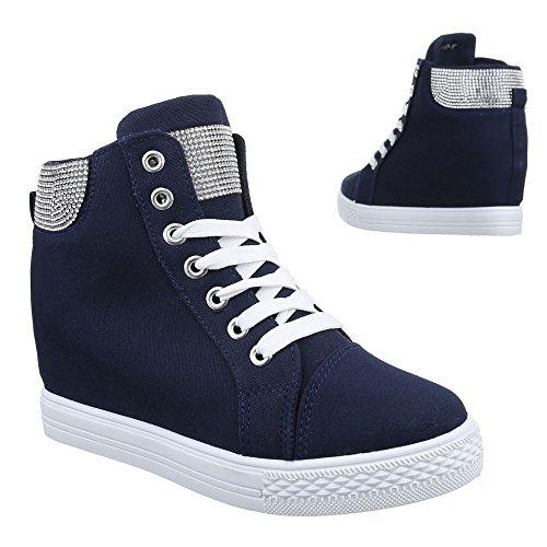 Ital-Design - Zapatillas altas Mujer azul oscuro