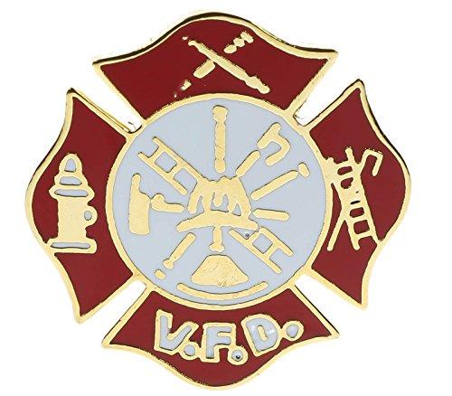Volunteer Fire Department VFD Hat or Lapel Pin H6606D51 -