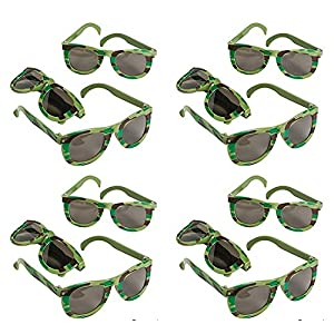 12 pair - Camouflage Army Sunglasses