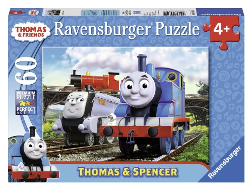 Ravensburger Thomas & Friends: Thomas and Spencer - 60 Piece Jigsaw Puzzle for Kids – Every Piece is Unique, Pieces Fit Together (Thomas The Tank Floor Puzzle)