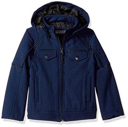 Urban Republic Little Ur Boys Soft Shell Jacket, Navy 6424KN, 4