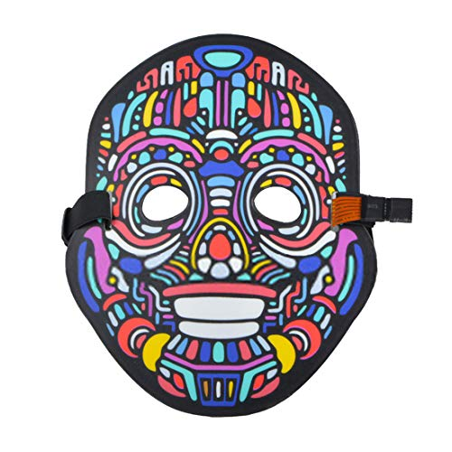 Sound Reactive Mask Glowing Mask Flash to Music