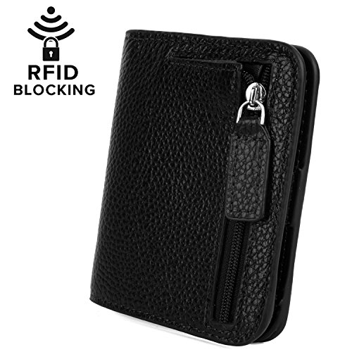 women s rfid blocking small compact leather