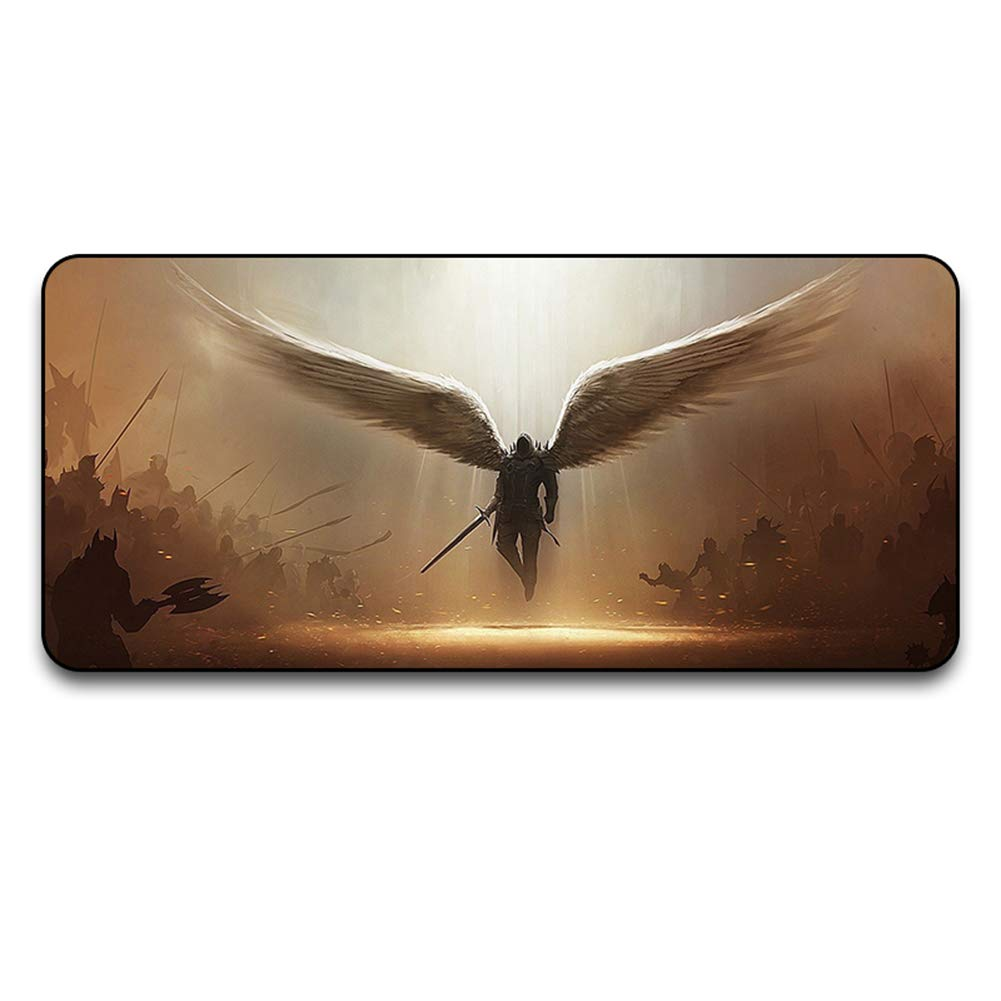 3 6003004 Extended Gaming Mouse Mat, XXXL Extended Cloth Surface Mouse pad WaterResistant Desk Pad with NonSlip Rubber Base and Stitched Edges2600  300  4