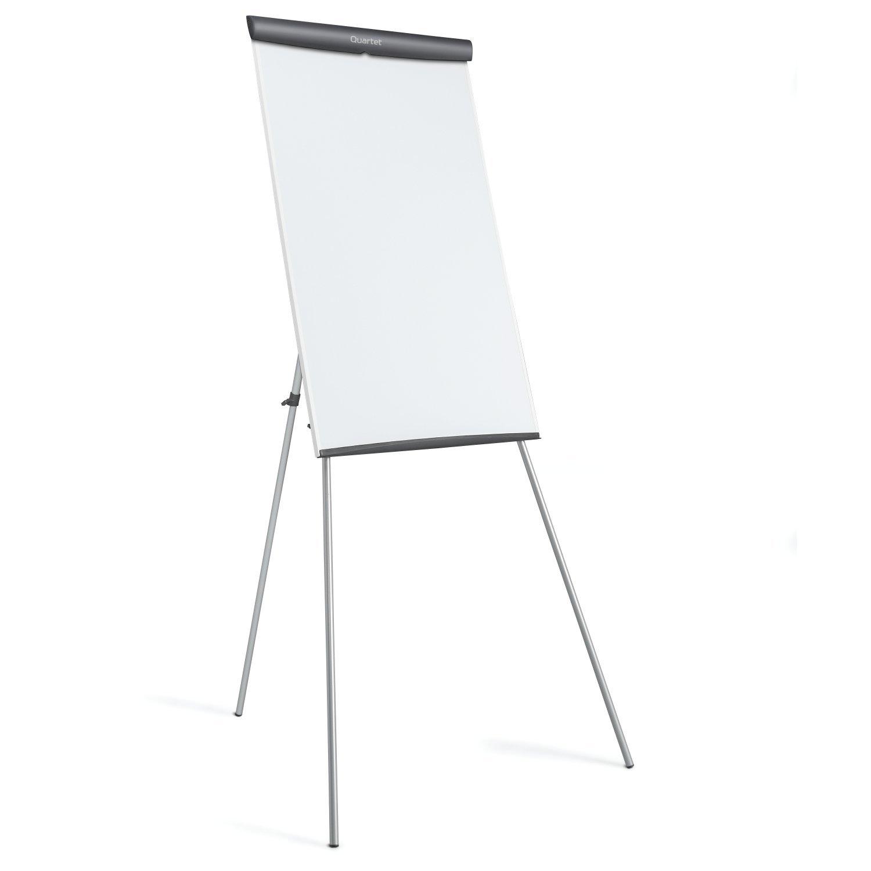 Quartet Melamine Presentation Easel, Whiteboard/Flipchart, 3' x 2', Gray Frame (ET32EU)