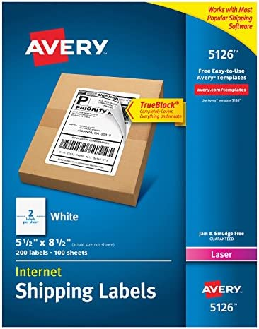 Avery Multipurpose Labels White 98 x 51