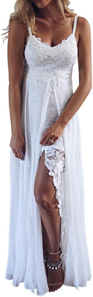 Abito tuta aperto Nudo scollo aderente Ricamato Ballo Lace Nude Jumpsuit Dress M