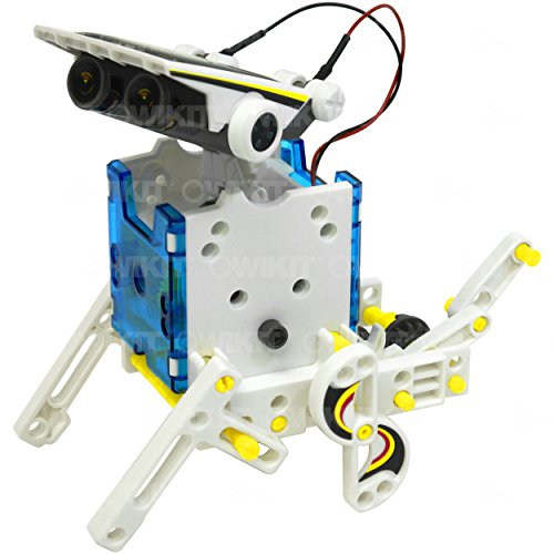 51wiSOy3X1L - 14-in-1 Educational Solar Robot   Build-Your-Own Robot Kit   Powered by the Sun