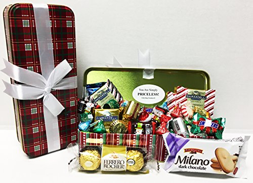 Unlocking Greatness You Are Simply PRICELESS Christmas Holiday Tin Gift Basket (Design 1)
