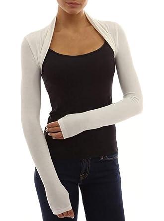 5dd23b73f81 Red Olives® Womens Plain Long Sleeve Bolero Shrug Crop Top Ladies Cropped  Cardigan Tops UK 8-14  Amazon.co.uk  Clothing