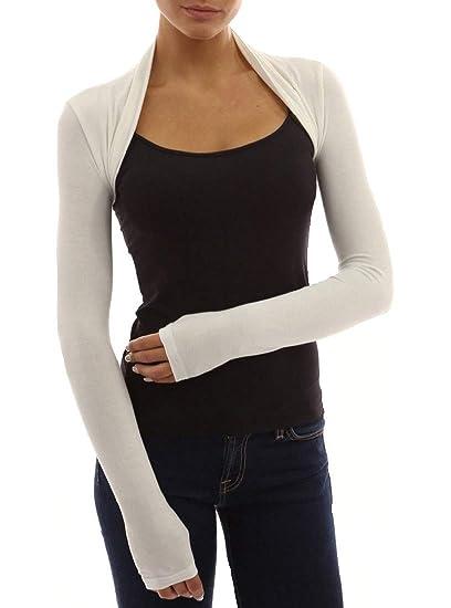 d6f678e3c3 Red Olives® Womens Plain Long Sleeve Bolero Shrug Crop Top Ladies Cropped  Cardigan Tops UK 8-14  Amazon.co.uk  Clothing