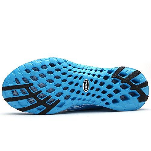 Aleader Slip-On Zapatillas de agua zapatos de senderismo de peso ligero de la mujer Azul