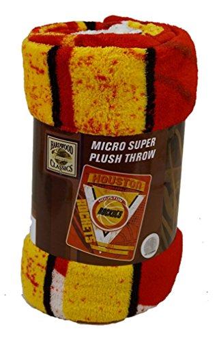 Houston Blanket - NBA Officially Licensed Houston Rockets Minimal Micro Raschel Throw, 46