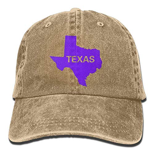 DEFFWB Hat Texas State Flag Map Denim Skull Cap Cowboy Cowgirl Sport Hats for Men Women
