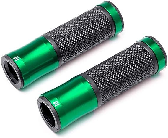 Motorrad Griffe Griffe Gr/ün Aluminium /& Gummi f/ür Alle 22mm 7//8  Lenker